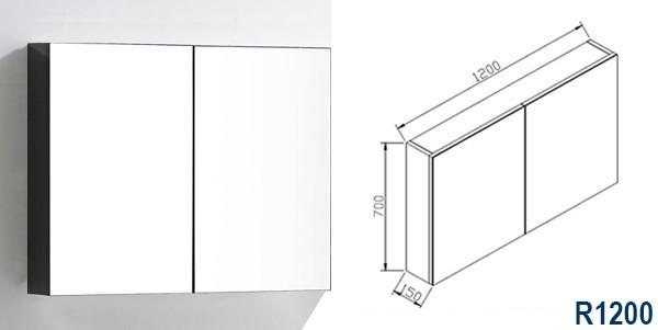Ensemble LUXX 1200 noir - miroir en option – Bild 9