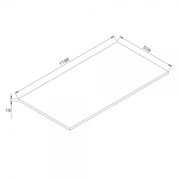 Ensemble LUXX 1200 noir - miroir en option – Bild 4