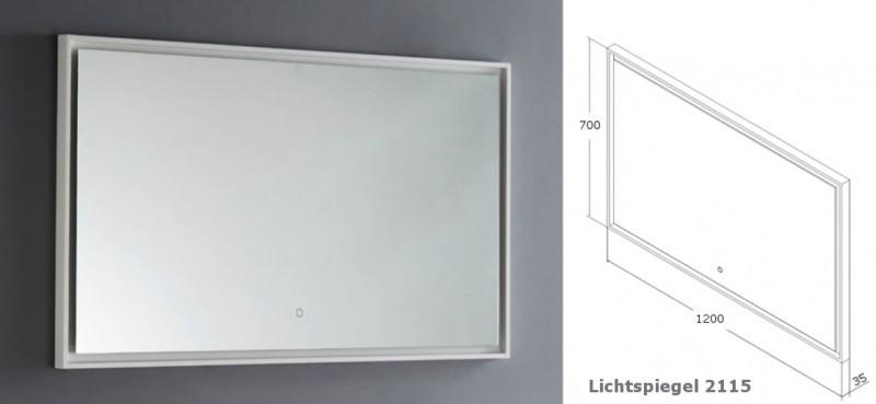 Badmöbel-Set DELIA 1200 in Walnuss - Spiegel optional wählbar – Bild 8