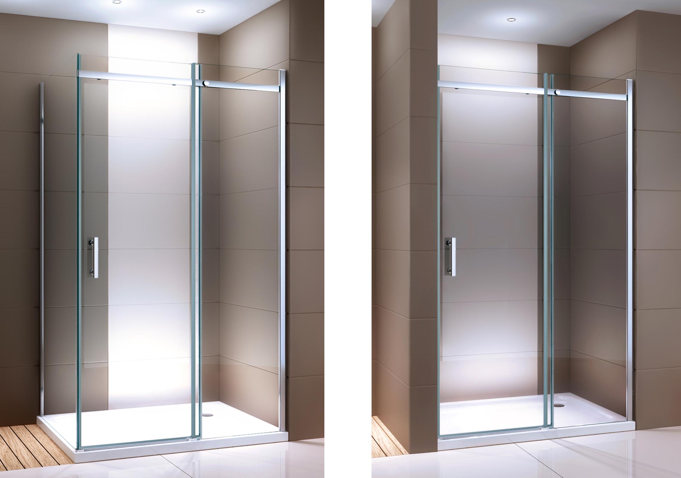 Duschabtrennung mit Schiebetür Nano Echtglas DX806A - Breite wählbar