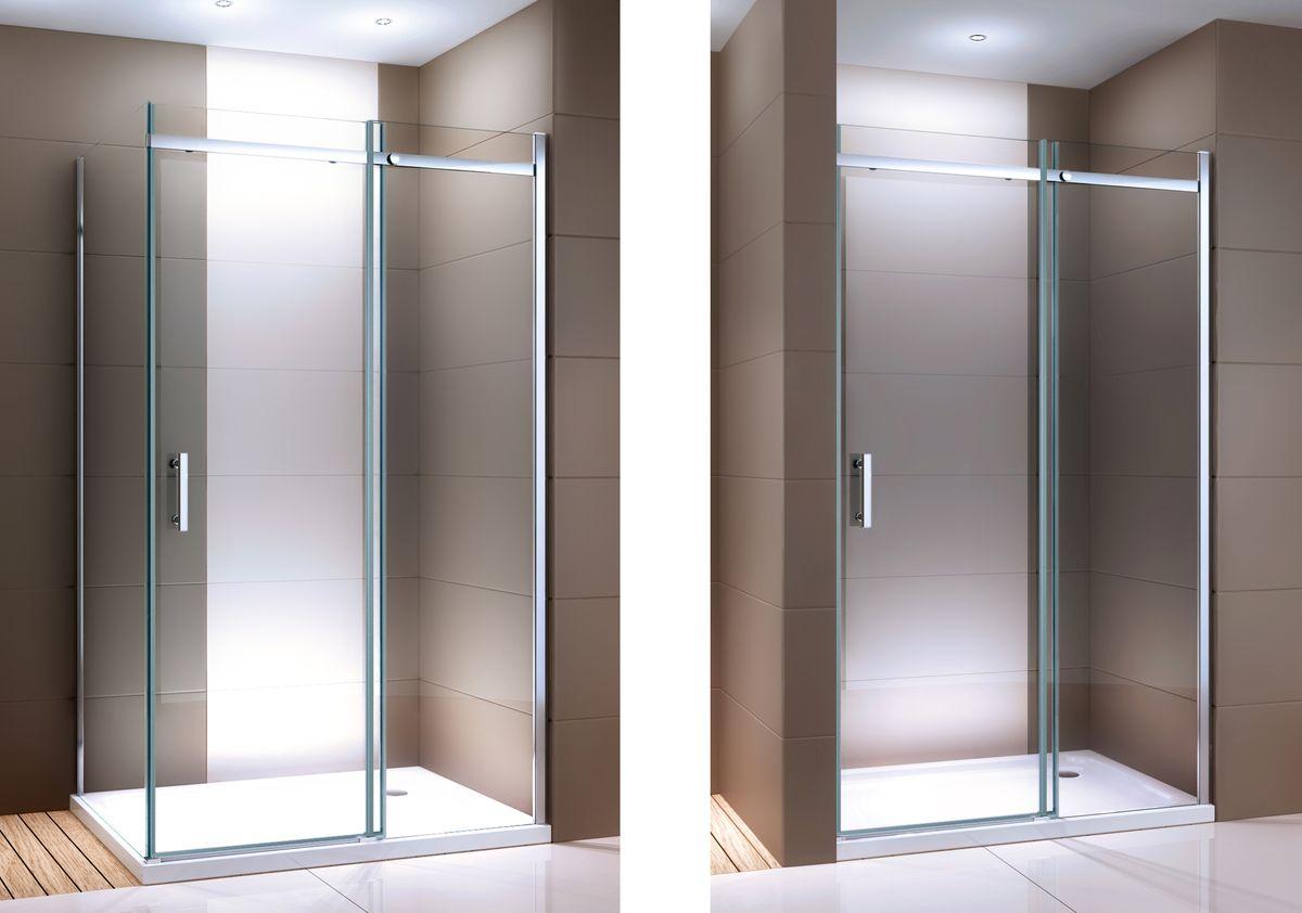 Duschabtrennung mit Schiebetür Nano Echtglas DX806A - Breite wählbar – Bild 1