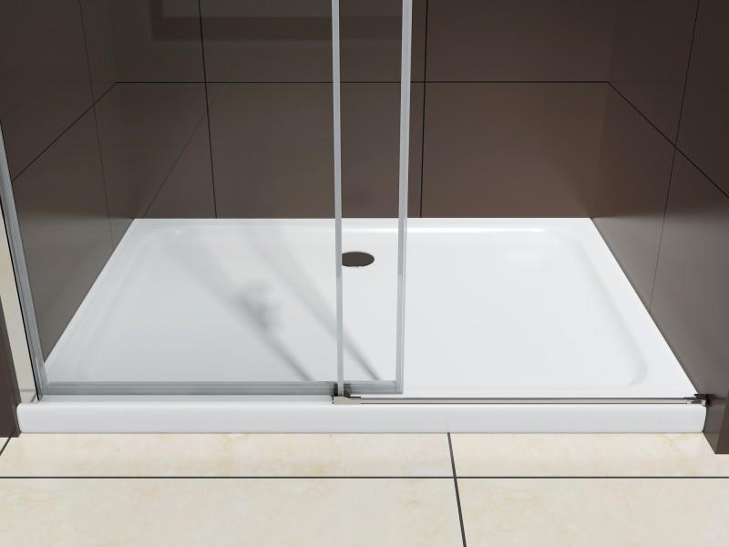 Duschabtrennung mit Schiebetür Nano Echtglas DX806A - Breite wählbar – Bild 9