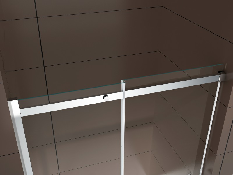 Shower enclosure with sliding door DX806A - tempered genuine NANO glass 6mm - different widths available – Bild 7