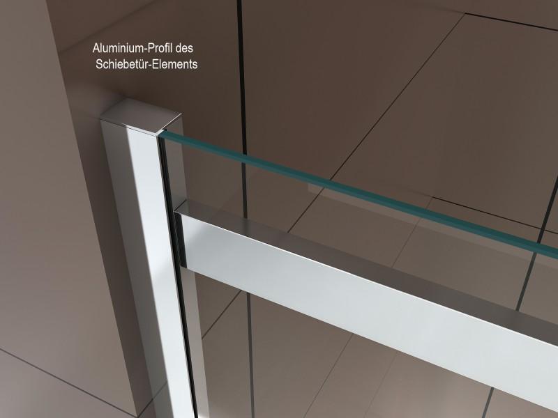 Duschabtrennung mit Schiebetür Nano Echtglas DX806A - Breite wählbar – Bild 5