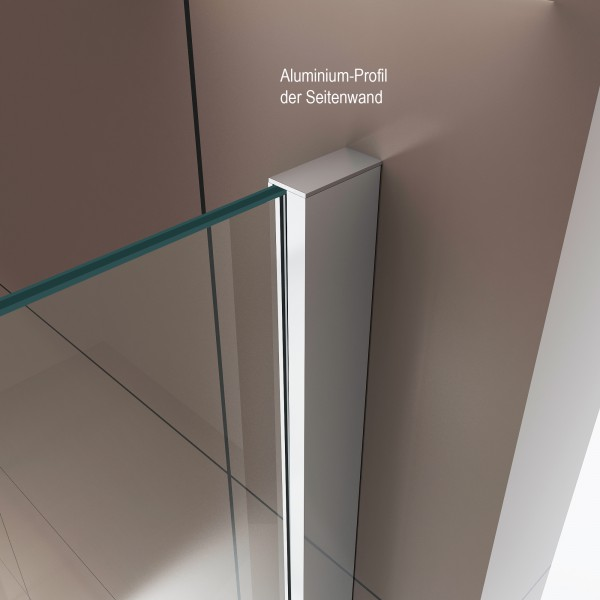 Shower enclosure with sliding door DX806A - tempered genuine NANO glass 6mm - different widths available – Bild 6