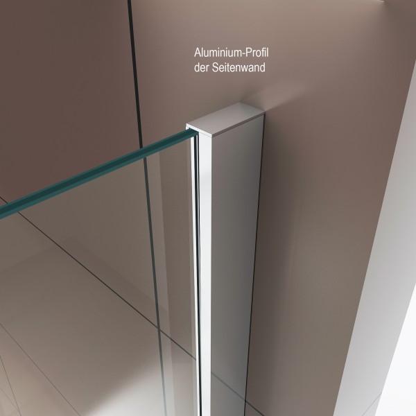 Duschabtrennung mit Schiebetür Nano Echtglas DX806A - Breite wählbar – Bild 6