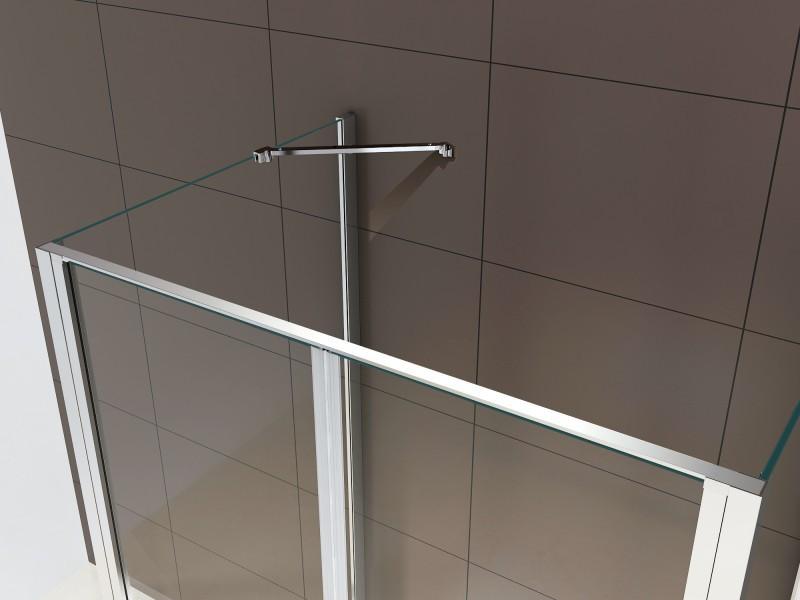 Duschkabine U-Form EX416-3 Echtglas - 90x90x195cm – Bild 3