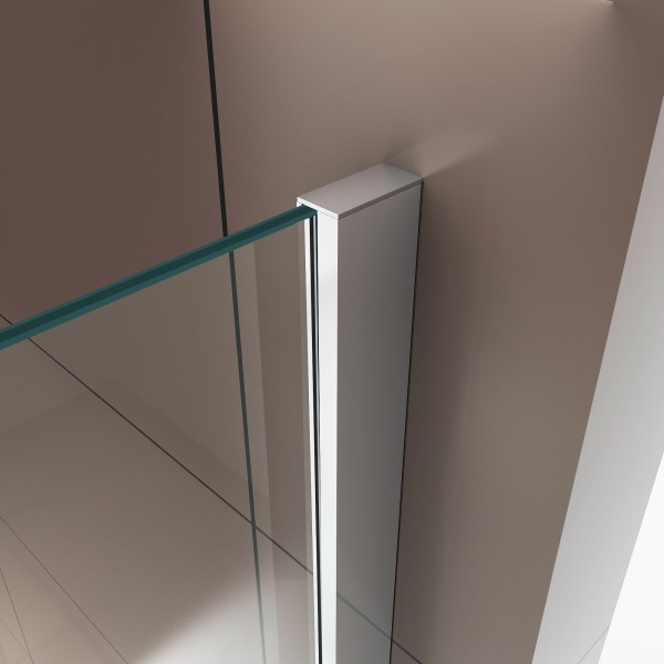 Shower enclosure U-shaped EX416-3 - swing door - safety glass ESG - 120 x 80 x 195 cm – Bild 4