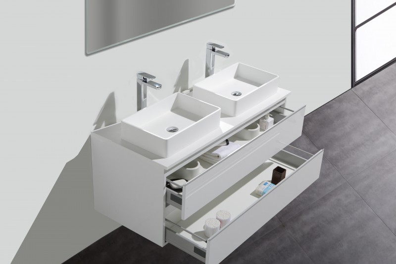 Bathroom furniture Set DELIA 1200 - white - mirror and mirror cabinet as optional items – Bild 3