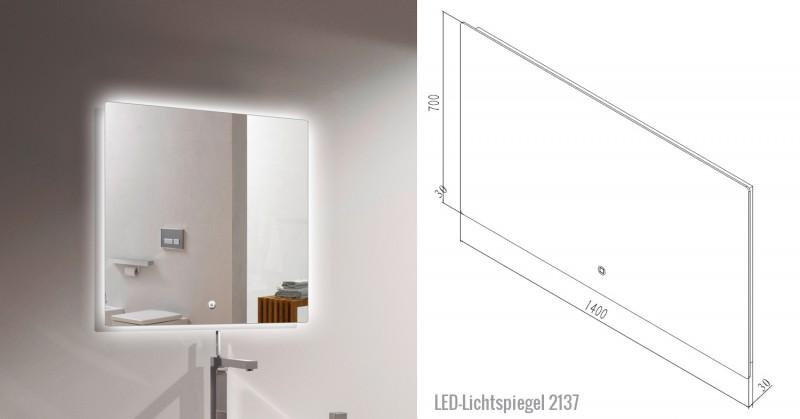 Ensemble de salle de bain Happy 1400 - noir mat - étagère et miroir en option – Bild 8