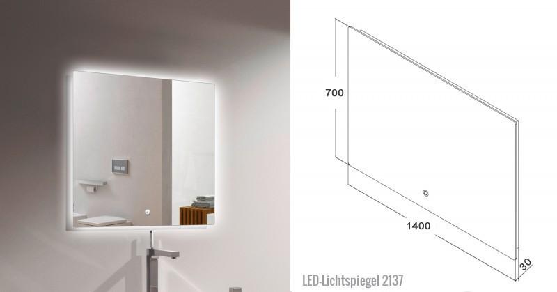 Badmöbel-Set LUXX 1440 Weiß - Mit zwei Schubladen - Badspiegel optional wählbar – Bild 5