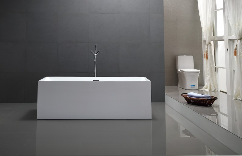 Freestanding Bathtub COMFORT 6813B white - made of sanitary acrylic - 170x80cm – Bild 2