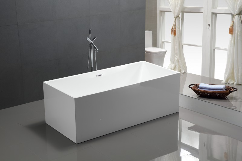 Freestanding Bathtub COMFORT 6813B white - made of sanitary acrylic - 170x80cm – Bild 1