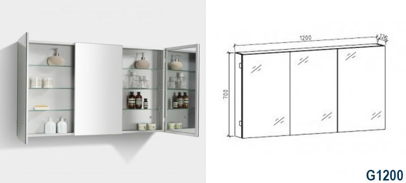Ensemble de salle de bain DELIA 1200, anthracite - miroir en option – Bild 8