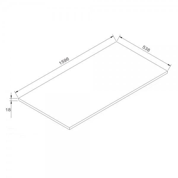 Badmöbel-Set LUXX 1600 Weiß - Mit 2 Schubladen – Bild 4