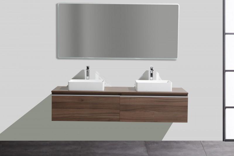 Ensemble de salle de bain  DELIA 1600 en noyer foncé - nombre de tiroir en option – Bild 2