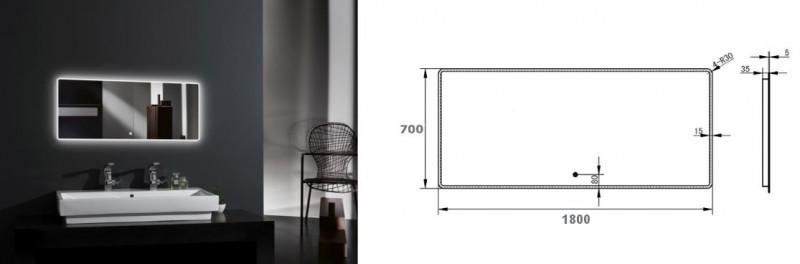 Ensemble de salle de bain  DELIA 1800 noyer foncé - 2 tiroirs, miroir en option – Bild 5