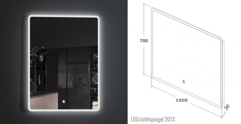 Badmöbel-Set DELIA 1000 Weiß - Mit zwei Schubladen - Badspiegel optional – Bild 6
