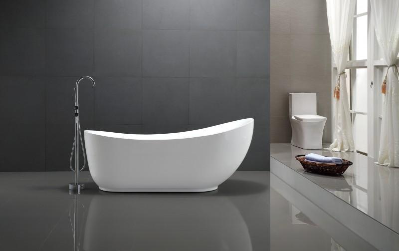 Vasca da bagno freestanding MAILAND - 180x89cm - rubnetti a scelta ...