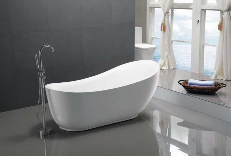 Freestanding bathtub MAILAND - 180 x 89 cm - with or without tap – Bild 2