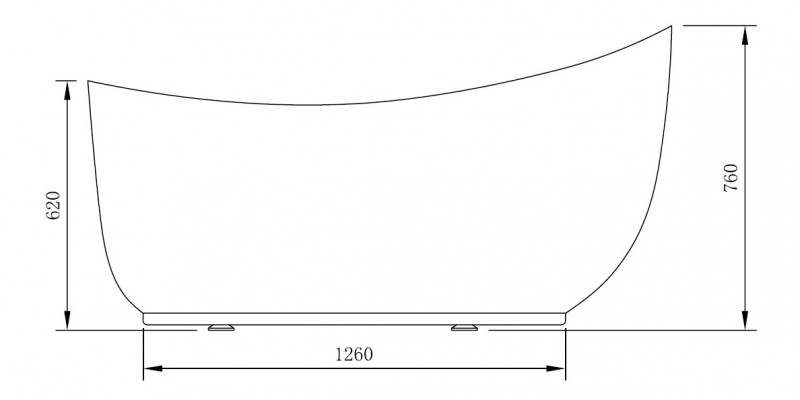 Freestanding bathtub MAILAND - 180 x 89 cm - with or without tap – Bild 4