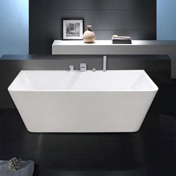 Freistehende Badewanne Acryl VENEZIA weiß - 170x80cm - Wannenarmatur wählbar – Bild 1