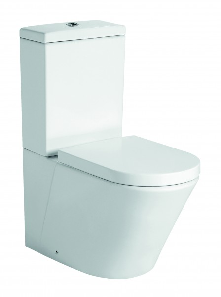 Floor standing WC toilet CT1088 - water connection at the bottom - soft close seat included – Bild 1