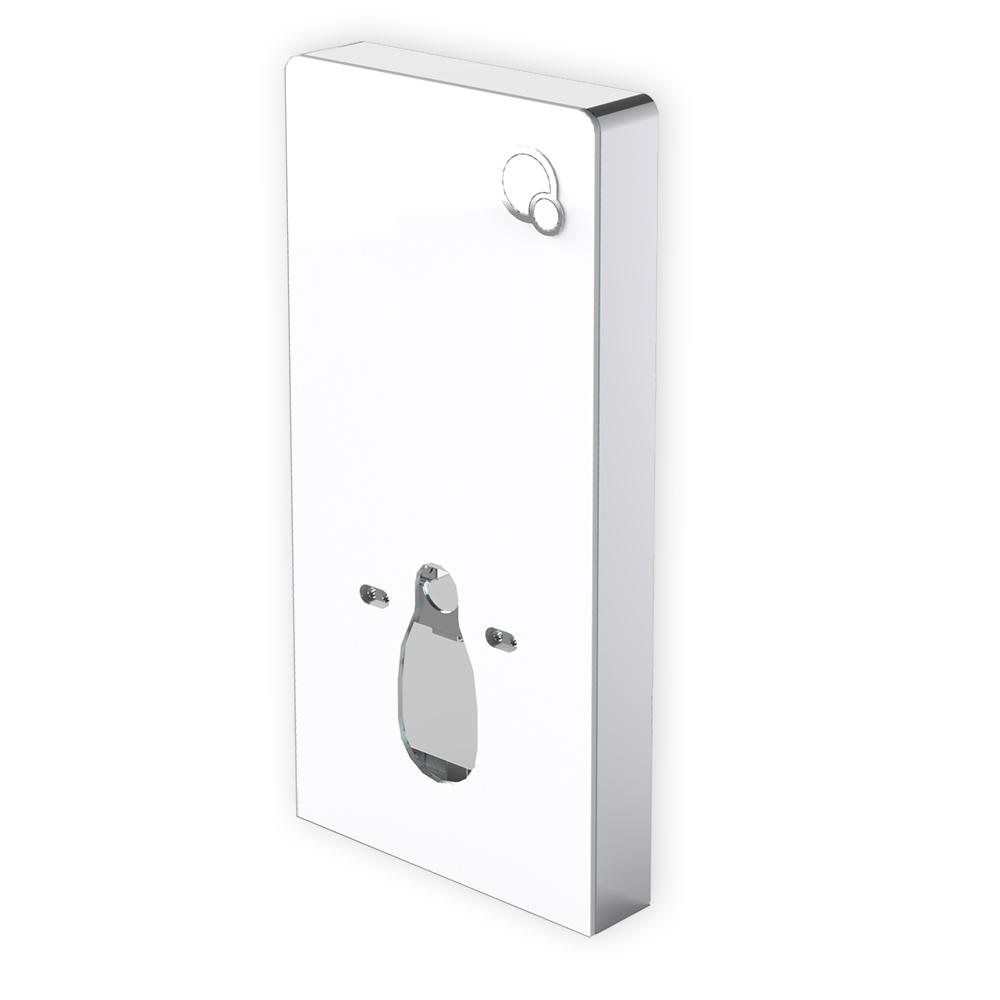 Sanitärmodul 805 für Wand-WC - Weiß - Inkl. Betätigungsplatte – Bild 1