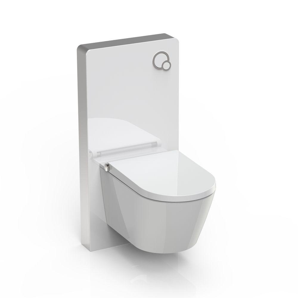 Sanitärmodul 805 für Wand-WC - Weiß - Inkl. Betätigungsplatte – Bild 4