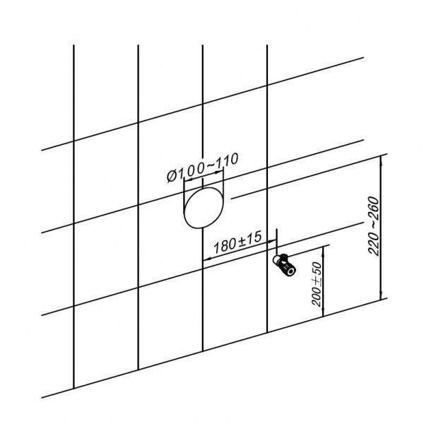 Sanitärmodul 805 für Wand-WC - Weiß - Inkl. Betätigungsplatte – Bild 9