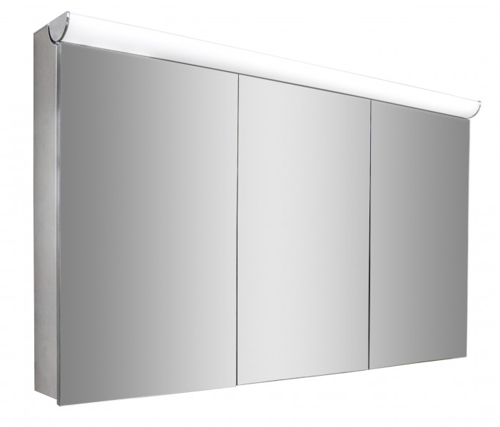 Spiegelschrank multy bs120 mit innenverspiegelung steckdose led licht breite 120cm badewelt - Spiegelschrank mit steckdose ...
