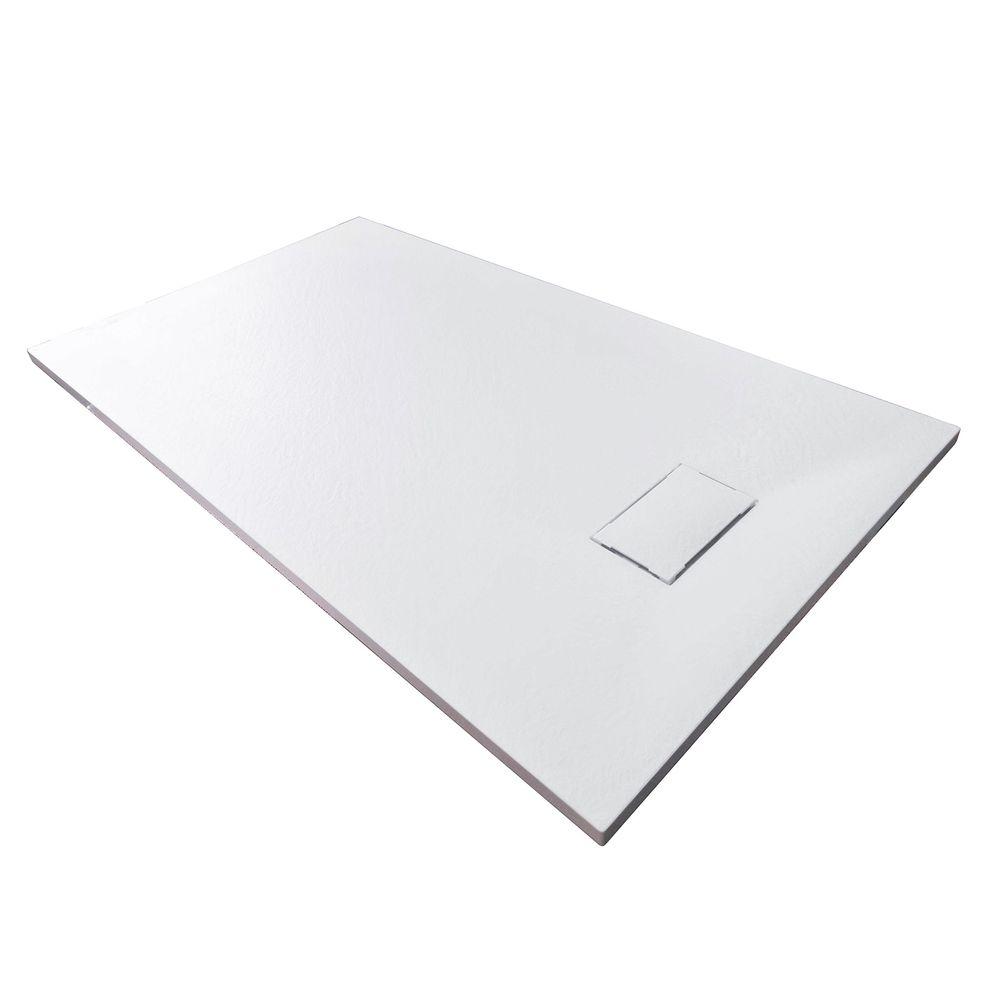 Duschtasse Duschwanne rechteckig GT-Serie aus SMC - Breite 80 cm - Größe und Zubehör wählbar – Bild 1