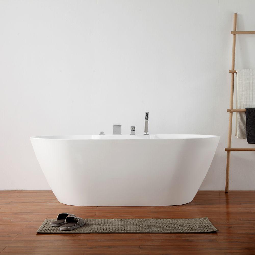 Freistehende Badewanne JAZZ PLUS Acryl weiß - 170 x 80 cm  – Bild 1