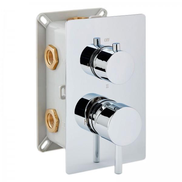 Hochwertige Unterputz-Duscharmatur UP13-01 mit 3 Wege-Umsteller - runde Griffe – Bild 1