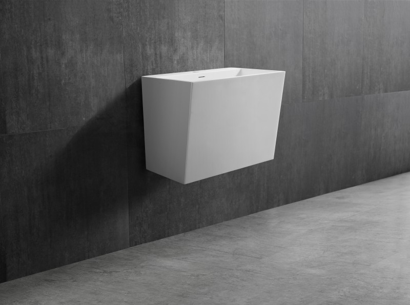 Wall-hung basin TW18 - Solid stone - Solid Surface- 50 x 35 x 40 cm – Bild 1