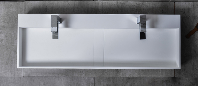 TWG07 countertop washbasin wall-mounted washbasin made of pure acrylic - 120x40x15cm – Bild 4