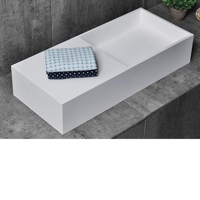 Countertop wash Basin TWG08 - 75x32,5x15cm - pure acrylic – Bild 2