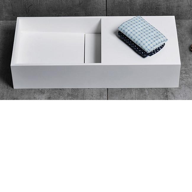 Countertop wash Basin TWG08 - 75x32,5x15cm - pure acrylic – Bild 4