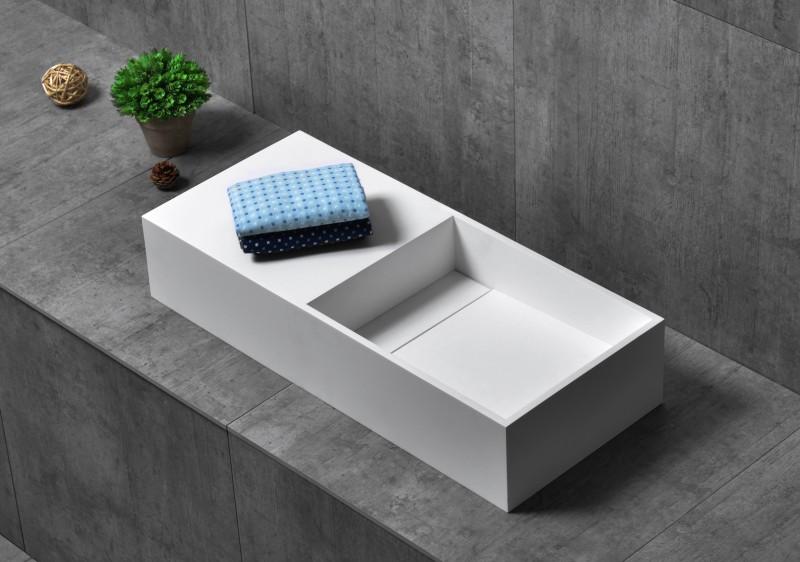 Countertop wash Basin TWG08 - 75x32,5x15cm - pure acrylic – Bild 1
