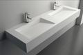 Vasque à poser ou a suspendre TWG16, en solid surface (pure acrylique) - 153x45x15cm 001