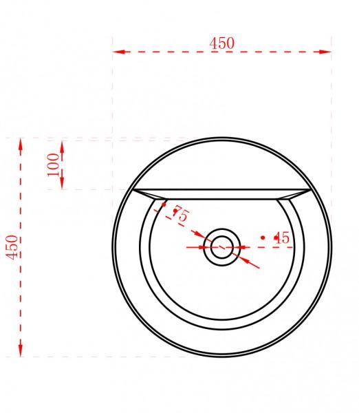 Standwaschbecken TWZ65 aus Mineralguss Solid Stone - 45 x 45 x 85 cm – Bild 5