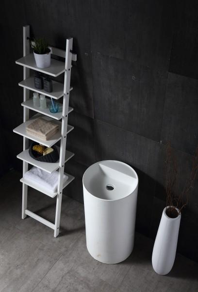 Freestanding wash Basin TWZ65 - 45x45x85cm - solid stone – Bild 2