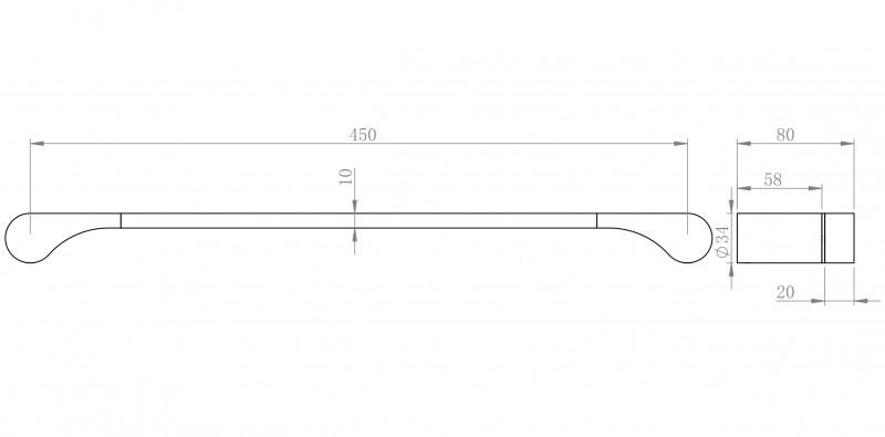 Moderner Handtuchhalter SDVHH45 Design rund - Serie VERSA - chrom – Bild 3
