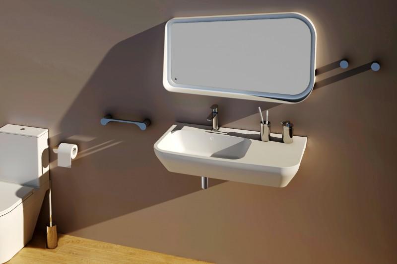Moderner Handtuchhalter SDVHH45 Design rund - Serie VERSA - chrom – Bild 2