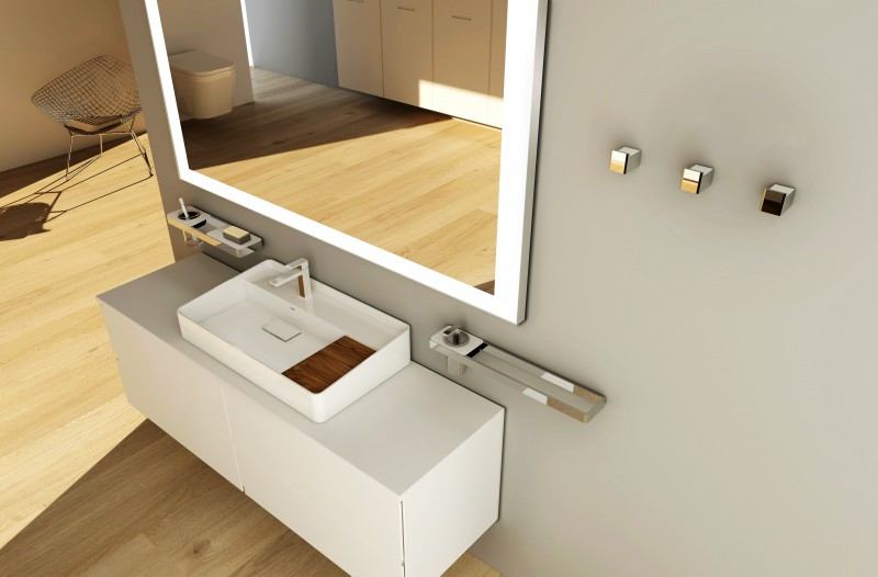 High-quality shelf SDLA - to combine with the towel rack SDLHH45 and SDLHH60 – Bild 3
