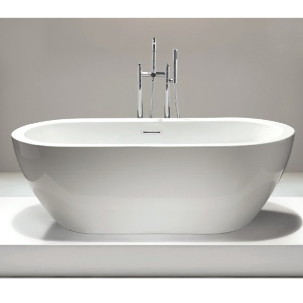 Baignoire îlot ovale en acrylique JAZZ blanc - 173 x 78 cm - robinetterie en option acheter en ligne