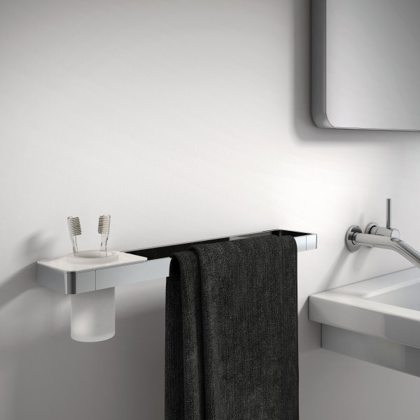 Luxury towel bar SDLHH45- LINEAR Collection - Toothbrush glass holder / Soap dispenser / Shelf optional – Bild 2