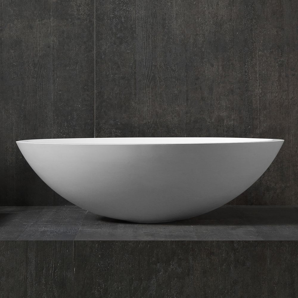 Counter top basin TW2106  of mineral cast (Pure Acrylic) - Matte - 50 x 35 x 15 cm – Bild 5