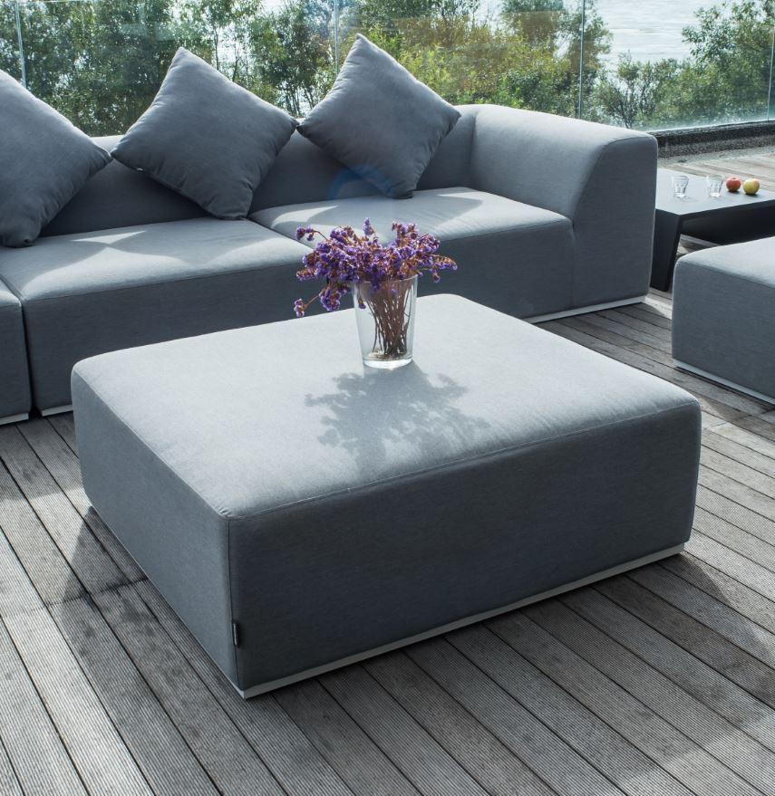 BERNSTEIN Gartenlounge-Hocker BUDDHA - Sunbrella Textil