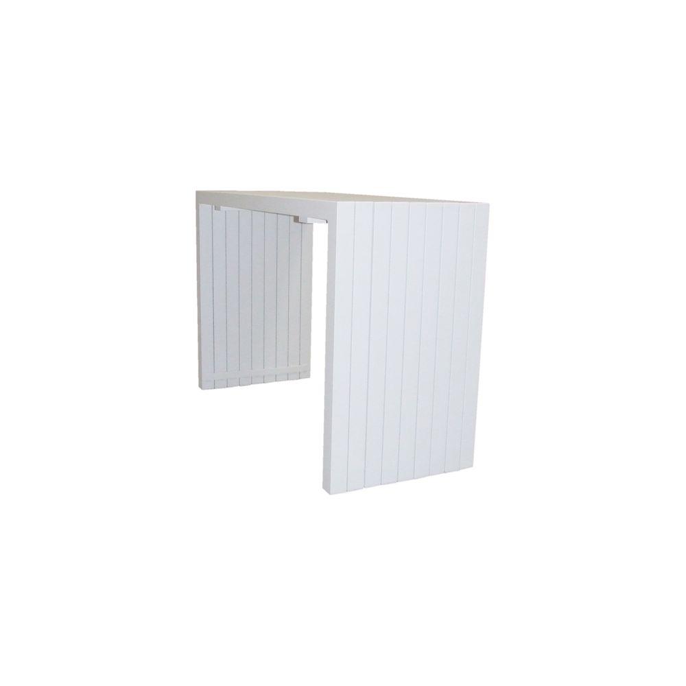 Garten-Bartisch BT01 aus Aluminium - Weiß - 160 x 67 x 110 cm  – Bild 4